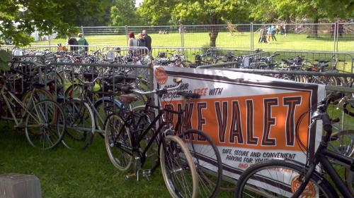 Bike Valet at Field Trip music festival in 2013: photo by Jared Kolb