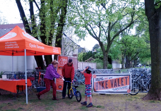 Bike Valet at Mayfair community festival, 2013