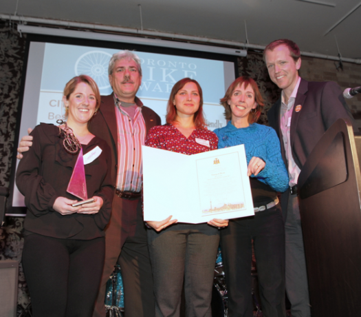 Energy@Work receives Best Overall Bicycle Friendly Business Award. Photo by Marlena Rogowska