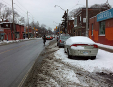 Harbord bike lane covered in snow in Dec 2013